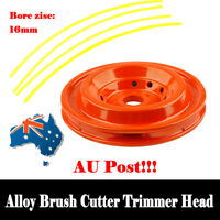 AU Universal 16mm Alloy Lawn Brush Cutter Trimmer Head Top Quad Line Easy Feed