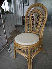 Stuhlkissen rund 40 Ø cm x 4 cm Sitzkissen beige, Kunstleder