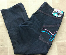 "Indigo Red Denim Co. Men's Size 44x 34.5"" Dark Wash Blue Straight Wide Leg Jeans"