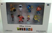Disney Pixar Mini Figurines Set of 8 NIB Nemo, Incredibles, Wall E