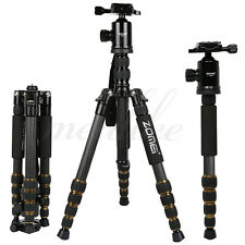 Zomei Z699C Carbon Fiber Travel Tripods 5 leg Sections Monopod with Ball Head