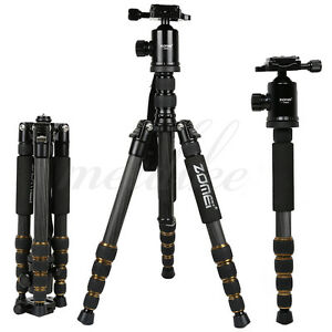 Zomei Z699C Carbon Fiber Tripod Lightweight Stable Travel Monopod For SonyCamera