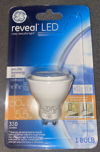 GE reveal LED GU10 Flood Bulb 💡 Clean Beautiful Dimmable Light 💡