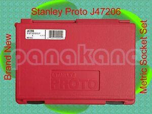 "Stanley Proto J47206 Metric Socket Set, 1/4""-Drive, 6-Point – Brand New"
