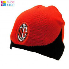 AC MILAN KNITTED CAP HAT RED BLACK BEANIE WINTER FOOTBALL SOCCER OFFICIAL NEW
