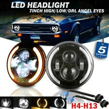 """Pair 7"""" 200W LED Headlights Angel Eyes DRL DOT Lamp for Ford Mustang 1965-1973"""
