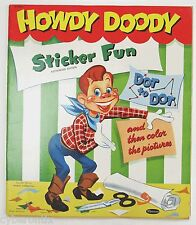 Howdy Doody Sticker Fun Connect Dots Childrens Book 1953 Whitman 215825 Used