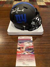 Daniel Jones Autographed New York Giants Eclipse Mini Helmet Witness JSA #1