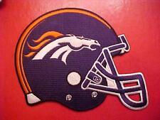 "Denver BRONCOS  5""x 4.5"" Embroidered HELMET PATCH"