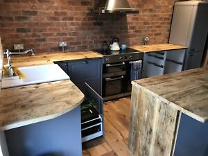 Kitchen counter Top wooden upcycled scaffolding