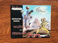 Master Chu and the Drunkard Hu NES Nintendo Instruction Manual Only