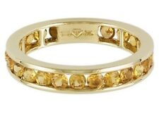 """African Yellow Sapphire 2.10ctw Round 14k Yellow Gold Eternity Band. ( 7"""" )"""