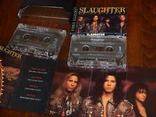 SLAUGHTER Stick It To Ya & Up All Night Cassette Single - Lot of 2