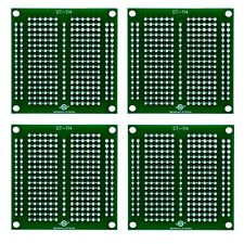 """4 Pack DIY Proto Perf Board, Permanent Breadboard with Solder Mask 2""""x2"""", ST-114"""