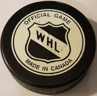 VICTORIA COUGARS VINTAGE INGLASCO WHL MADE IN CANADA HOCKEY PUCK