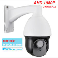"Security 3"" MINI AHD 1080P IR PTZ Camera 3X ZOOM 2.8-8mm Lens IP66 Coaxial PTZ"