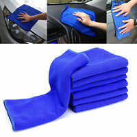 5 x Large Microfibre Cleaning Auto Car Detailing Soft Cloths Wash Towel Duster