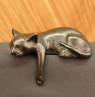 Art Deco Modern Art House Pet Cat Feline Hot Cast Bronze Sculpture Statue Figure