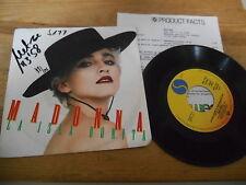"7"" Pop Madonna - La Isla Bonita : Remix / Instr, (2 Song) SIRE WEA WoC Presskit"