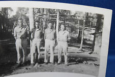 Original WW2 Photograph of Four U.S. Army Officers on the Famous 'Ledo Road' 44d