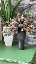 Head Shaped Wig Vase. White Gloss / Matte Black. Perfect For Artificial Flowers