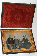 Half Plate Ambrotype In Leather And Wood Case Frame - family photo