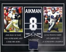 TROY AIKMAN DALLAS COWBOYS OLD TEXAS STADIUM SEAT 8 X 10 COA