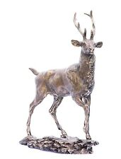Stag  Bronze - Resin Sculpture shooting gift boxed  NEW