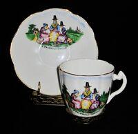 "R&D England Balmoral China ""A FRIENDLY GOSSIP"" Coffee Tea Cup & Saucer Set"