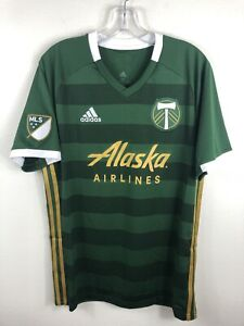 Portland Timbers Alaska Airlines Adidas CLIMALITE MLS Soccer Jersey NWT Various