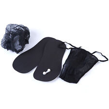 Spray Tan Disposable Sticky Feet Black, Black Thongs, Black Mob Caps Tanning Kit