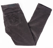 Adriano Goldschmied The Stevie Slim Straight Womens Jeans Black Corduroy Size 26
