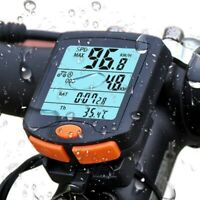 Waterproof LCD Digital Computer Bicycle Bike Backlight Speedometer Odometer