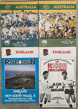 More details for australia v england 1st & 2nd test 1988 plus 2 extra