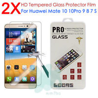 2Pc 9H Premium Tempered Glass Cover Screen Protector For Huawei Mate 10 9 8 7 S