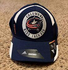 Adidas Columbus Blue Jackets Structured Flex S/M BRAND NEW hat cap NHL
