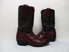 Burgundy Leather Vintage Cowboy Western Boots Mens Size 10.5 W