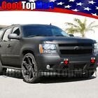 For Chevy Tahoe 2007-2014 Tow Hook Bumper Black Mesh Rivet Bolt-on Grille 2pc
