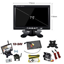 "Car Truck Wireless IR Rear View Backup Camera Night Vision System+7"" LCD Monitor"