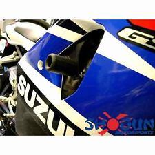 Suzuki 2003-2004 GSXR1000 GSXR 1000 Shogun Frame Sliders - No Cut Version Black