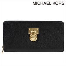 NWT Michael Kors Hamilton Traveler Zip Around Pebble Leather Wallet 35T6GHXZ1L