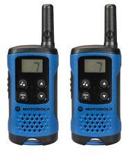 4Km Motorola TLKR T41 WalkieTalkie 2 Two Way PMR 446 Compact Radio Set Twin Blue
