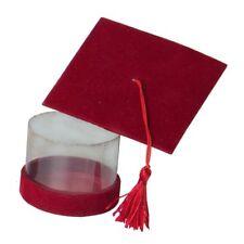 ETM Bomboniere Scatola Cappello tocco Laurea Rossa con pvc 7,5x7,5cm 6pz