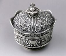 Tin Alloy Crown Design Music Box ♫  Greensleeves  ♫