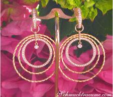 Prächtige Brillant Ohrringe im Kreis Kordel Design, 2,30 ct. TW VS, Gelbgold 750