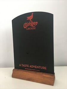 Chalkboard Man Cave Home Pub Shed Bar Garden Promo Ginger Grouse Retro Beer