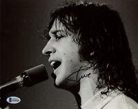 STEVE WALSH SIGNED AUTOGRAPHED 8x10 PHOTO KANSAS LEAD SINGER RARE BECKETT BAS