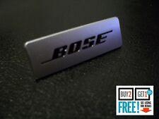 BOSE Brushed Aluminium Speaker 3D Badge Sticker Emblem Logo