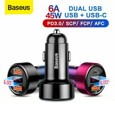 Baseus 45W Car Charger Quick Charge QC3.0 USB PD Type-C for iPhone Samsung