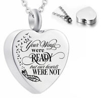 Heart Cremation Ashes Necklace - Memorial Jewellery - Keepsake Urn Pendant